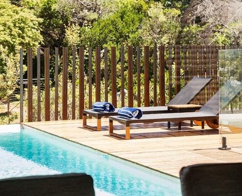 Beautiful poolside decking